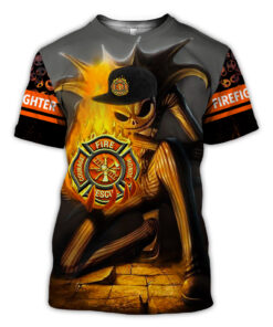 Firefighter Christmas Shirt.Firefighter Christmas 3d All Over Printed Clothes Ta0832